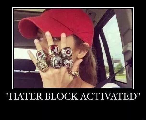Hater Block Activated