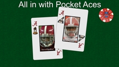 All in with Pocket Aces (Green Felt)